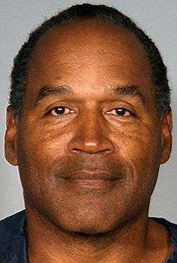 Photo of O.J. Simpson being booked in Las Vegas, Nevada