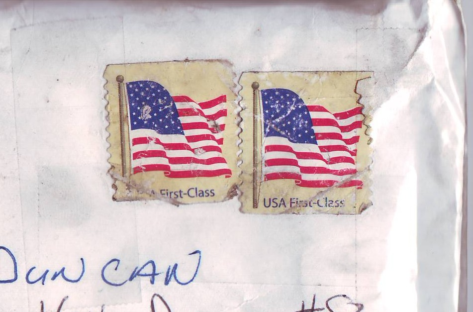 Legal uncanceled stamps, which the US Post Office refused to honor